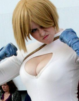 Power Girl ready to fight by creativesnatcher69