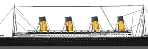 Waterline Portrait of RMS Majestic by Prosyon