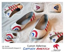Water Lily Captain America Ballerinas by LilyLiddellink
