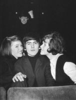 A Beatle photobombing another Beatle by BeatlesGirl909