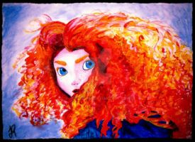 Princess Merida Acrylic. by JoyGirl798