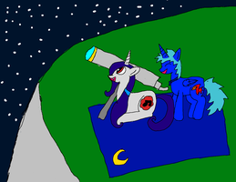 me and my best friend marceline stargazing by The-Midnight-Sparkle