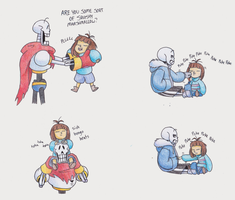 Undertale - doodles again by TC-96