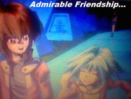 YuGiOh GX Wallpaper: Admirable Friendship... by XxXxRedRosexXxX