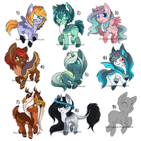 Chibi Pony Auctions: SOLD OUT by Kuro-Creations