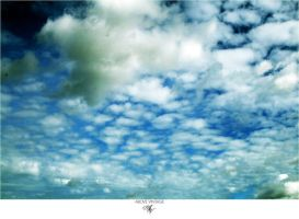 Patchwork Clouds - Sky Stock by AboveVintage