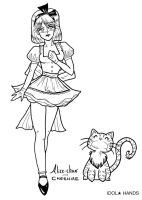 Alice-chan and Cheshire by idolhands