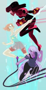 The Crystal Gems by Hootsweets