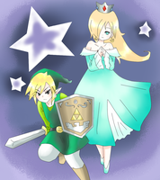Commission - Rosalina and link by Mi-chan4649