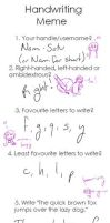 Handwriting Meme by Nami-Satu