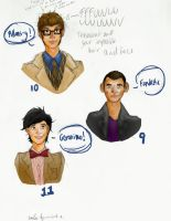 Doctor Who Sketch Color Practice by blondiemi