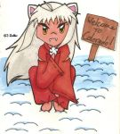 Inuyasha in the Snow by zallie