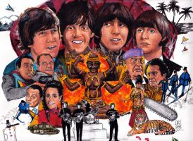 Beatles - HELP ! - 50th Anniversary (1965 - 2015) by smjblessing