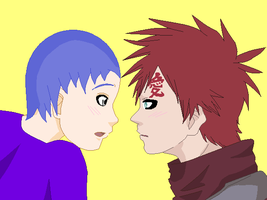Chino and Gaara first meeting by kisshugirl
