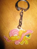 Fluttershy keychain by katiewhy