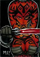 Darth Talon Sketch Card by MasonEasley