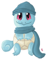 Commission - Winter Squirtle by AlwxIV