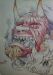 Hannya mask by megamaax