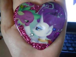 Spike and Rarity Resin Pendant by Though-I-Walk