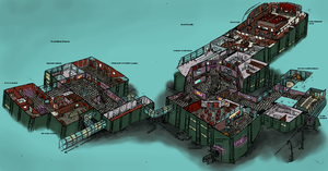 Fort Frolic Rapture Cutaway Diagram by Hebbybobdige