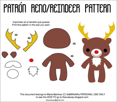 .:Reindeer plush pattern:. by SaMtRoNiKa