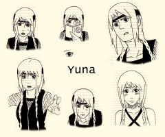 Yuna sketches+references by knilzy95