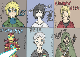 can you guess my fave characters? by Ducie