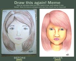 Draw This Again Contest: Brown-Haired Girl by errisirre
