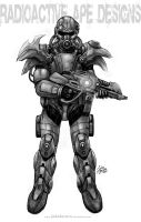 Grayscale: a Power Armor by johnbecaro