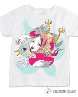 feather brain tee design by flyk