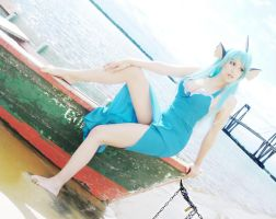 Vaporeon Cosplay (Gijinka ver.) by usagiyuu