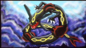 Pokemon: Shiny Rayquaza by GhostNinja1373