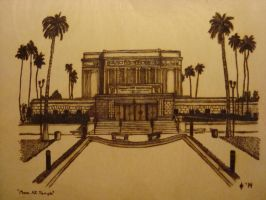 LDS Mesa AZ Temple Woodburning by dppratt