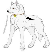 Bolt Wolf by WolfLover666
