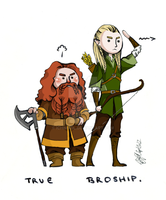 The Friendship between an Elf and a Dwarf by ichimadl