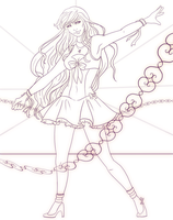 Sailor Venus Lineart Commission by revois
