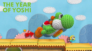 The Year Of Yoshi - Yarn Yoshi Wallpaper by TheWolfBunny