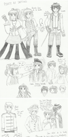 APH Pirate AU Sketchdump by melonstyle