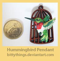 Humming Bird Pendant - GIFT by Bittythings