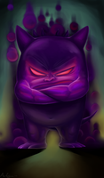 Shadow Demon Gengar by i-hate-mushroomz
