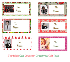 Printable One Direction Christmas Gift Tags by iluvlouis