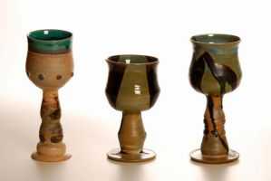 3 goblets by Recycled-Oxygen
