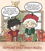 Have A Very Drarry Christmas by pokeang