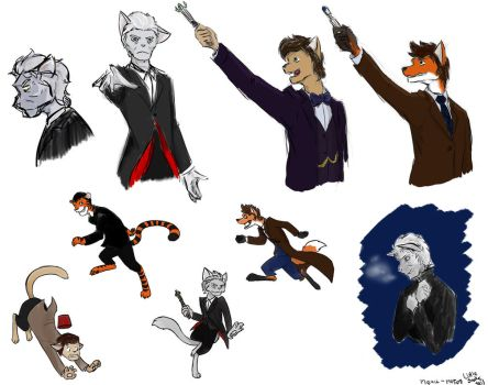 Doctor Who doodles 5 by LittleSnaketail