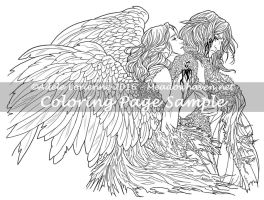 Art of Meadowhaven Coloring Page: Divide the Sky by Saimain