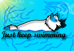 Just Keep Swimming by KeKitty