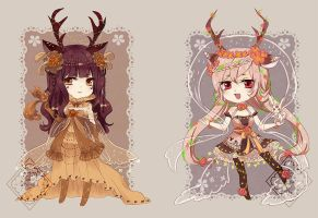 Autumn and Summer Deer [ADOPTABLE CLOSE] by Eternal-S