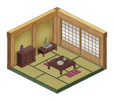 simple Japanese-style room by midori-seiran