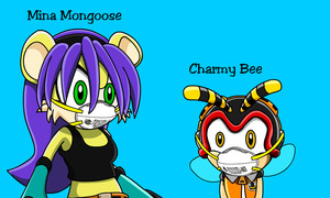 Mina Mongoose and Charmy Bee in N95 Masks by MasterAccount