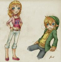 Modern Zelda: outfit designs 1 by Kathisofy